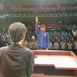 開会式で神村学園の中須主将が力強い宣誓。